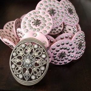 Accessories - Pink Concho Belt